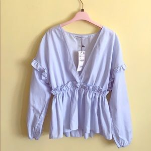 Blue blouse from Zara